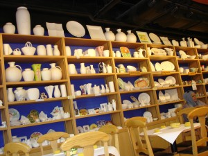 Color Me Mine selection of ceramics