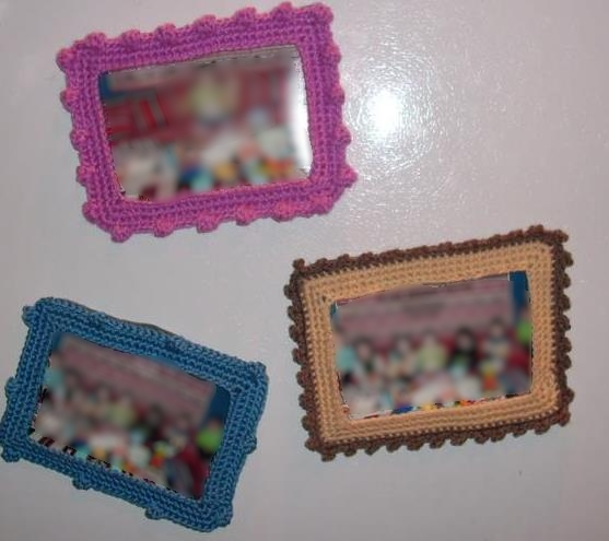 Crochet Magnet Photo Frames