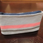 Zipper Added to Crochet Pouch