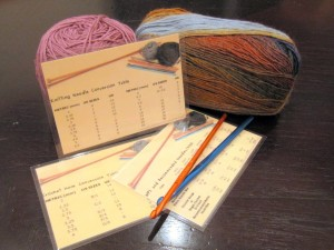 Reference Card Knitters Crochet