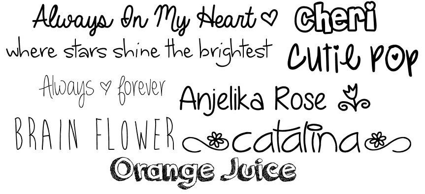 Was looking for fonts and fell in love with these free fonts