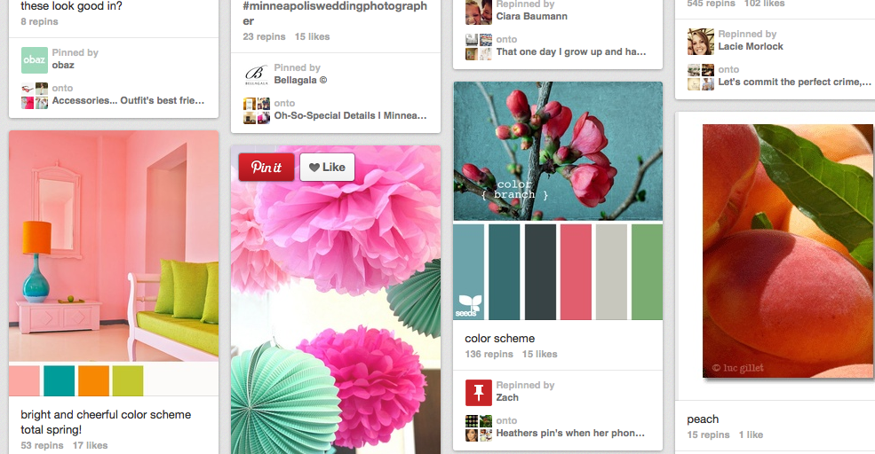 Pinterest Color Scheme