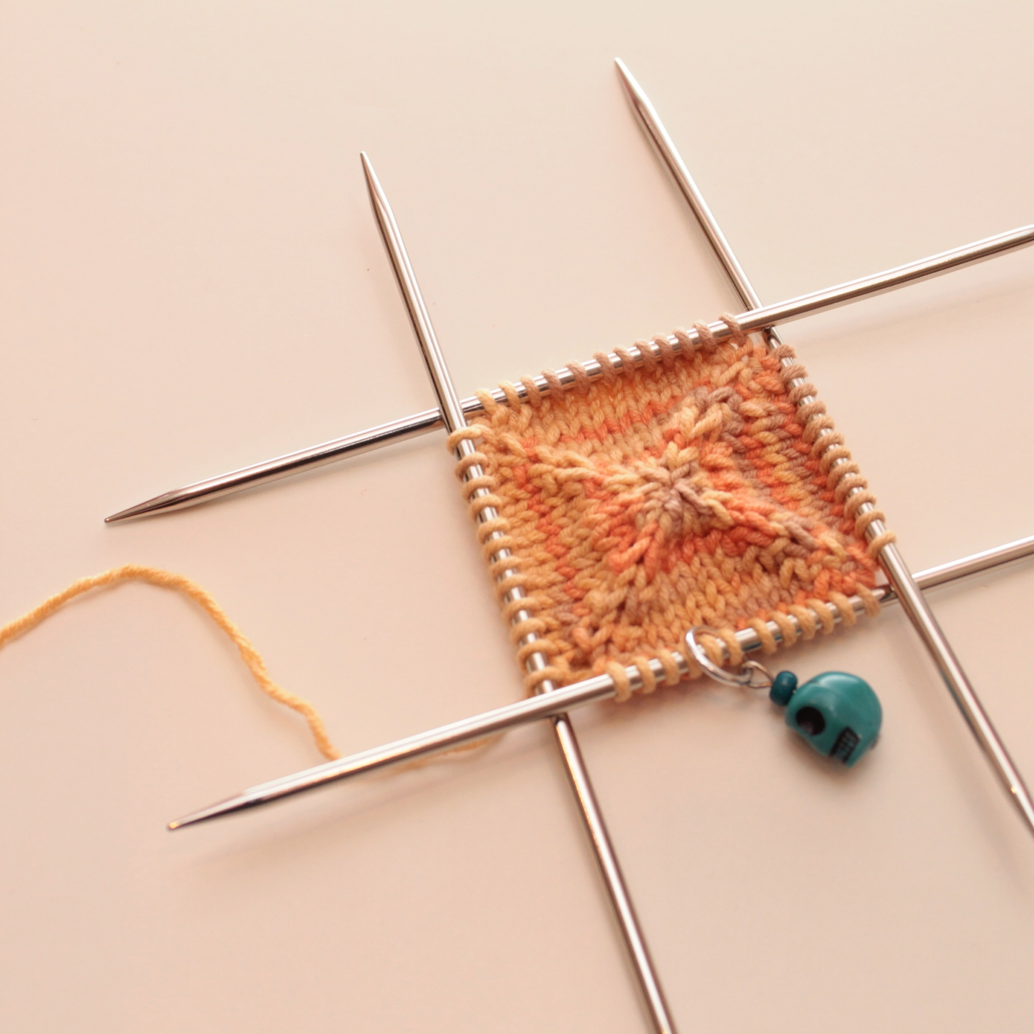 knitting from the center out � the c side